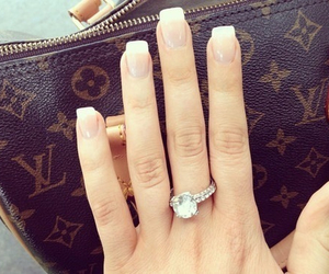 ring, Louis Vuitton, and nails image