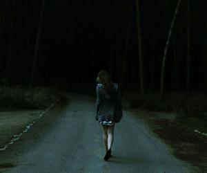 girl, alone, and dark image