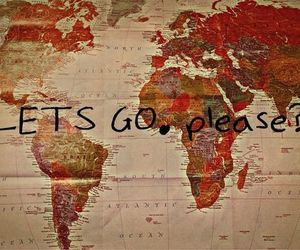 travel, world, and let's go image