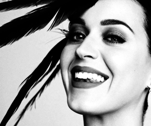 black and white and katy perry image