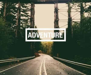 adventure, road, and quote image