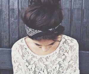 girl, hair, and bandana image