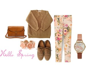 accessories, bag, and floral image