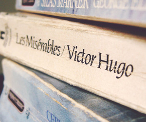 les miserables and victor hugo image
