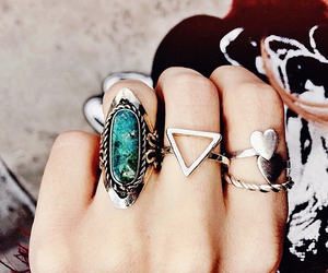 design, rings, and triangle image