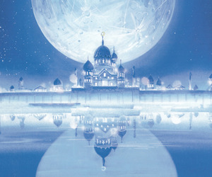 castle, moon, and sailor moon image