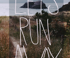 run, quote, and away image