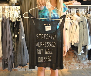 fashion, depressed, and stressed image