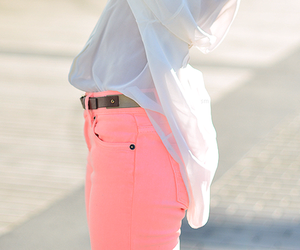 fashion, pink, and white image