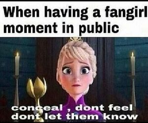 fangirl and frozen image
