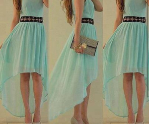 belt, blue dress, and blue image