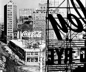 black and white and new york image