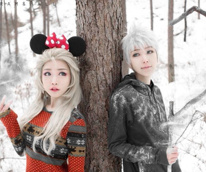 jack frost, elsa frozen, and jelsa image