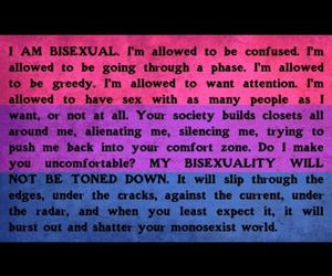 bi, bisexual, and love is love image