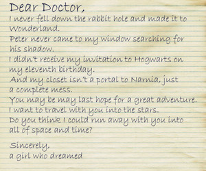 dear, doctor, and doctor who image