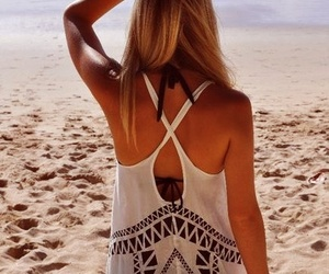 beach, bohemian, and outfit image