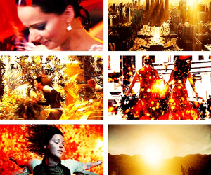 fire, Jennifer Lawrence, and hunger games image