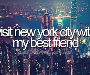 new york, best friends, and travel image