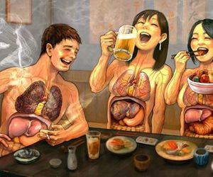 drinking, smoking, and unhealthy image