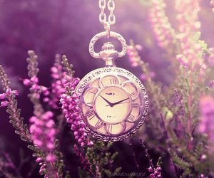 flowers, clock, and time image