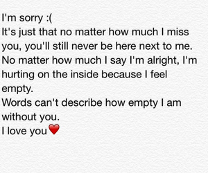 i miss you, yes, and i'm sorry image