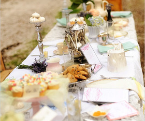 alice in wonderland, cake, and party image
