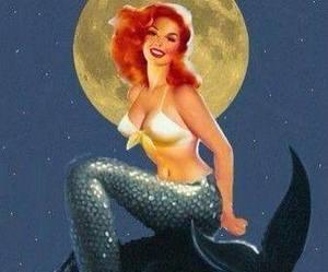 blue, fantasy, and mermaid image