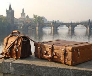 travel, bag, and prague image