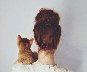 cat, simple, and white image