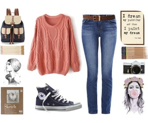belt, converse, and clothes image