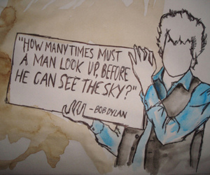 bob dylan, quote, and drawing image