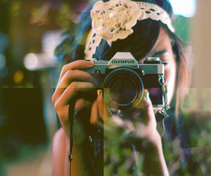 camera and girl image