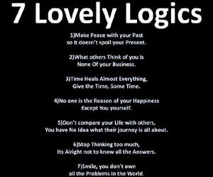 life, quote, and 7 logics image