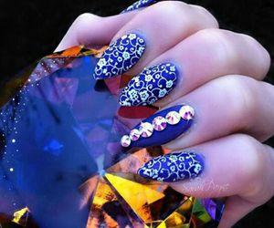 beautiful, glamour, and dark blue image