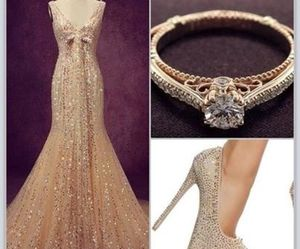 dress, ring, and shoes image