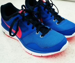 blue, nike, and runningshoes image