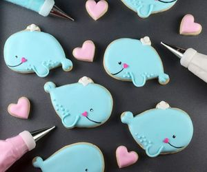 cute, food, and whale image