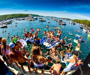 party, summer, and beach image