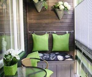 balcony, green, and home image