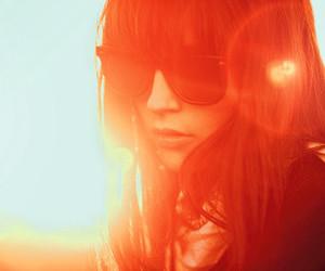 brunette, girl, and glasses image