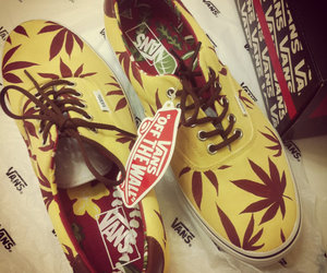 vans, shoes, and weed image