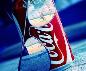 summer, coca cola, and sunglasses image