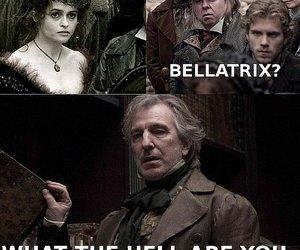 harry potter, snape, and bellatrix image