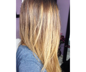 blonde, brown hair, and brunette image