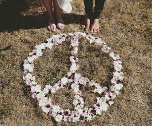 peace and flowers image
