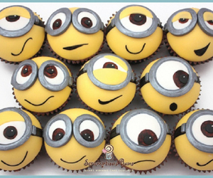 minions, cupcake, and cute image