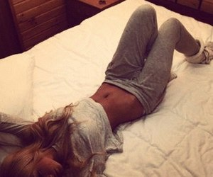 girl, body, and bed image