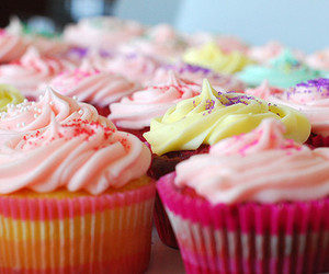 cupcakes, lovely, and sweet image