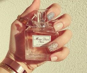 dior, nails, and parfume image
