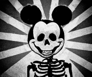 mickey, disney, and skull image